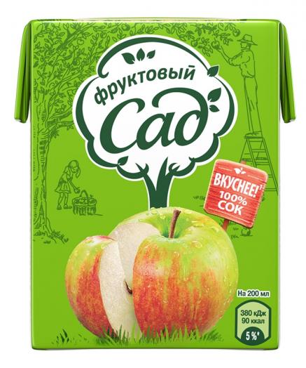 Сок Фруктовый Сад 0,2л Яблоко