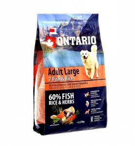 Ontario Для собак крупных пород с 7 видами рыбы и рисом