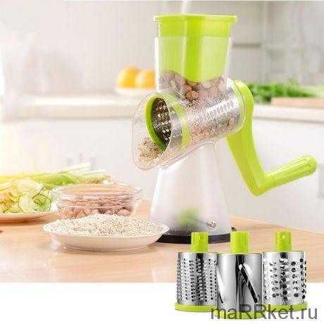 Мультислайсер для овощей и фруктов Household Rotary Cutting Machine (салатовый)