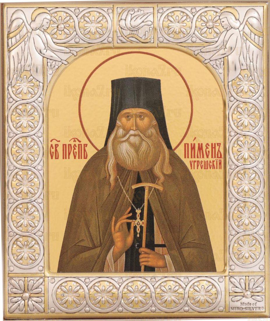 Икона Пимен Угрешский преподобный (9х10,5см)