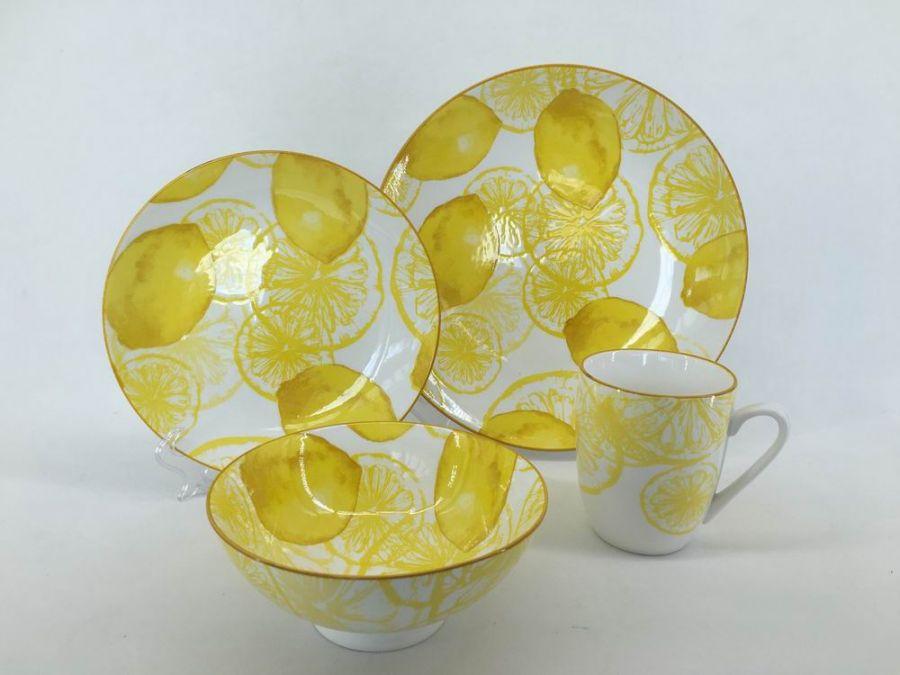 """Чайно-столовый набор на 4 персоны """"Лемон Фестиваль"""", 16 пр."""