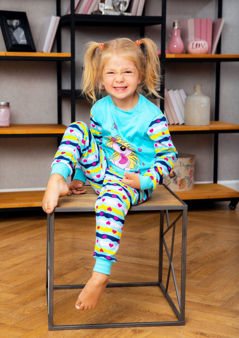 Пижама для девочки Веселый ежик
