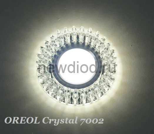 Точечный Светильник OREOL Crystal 7002 95/60mm Под Лампу MR16 Белый