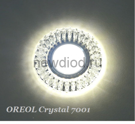 Точечный Светильник OREOL Crystal 7001 95/60mm Под Лампу MR16 Белый