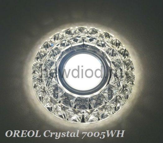 Точечный Светильник OREOL Crystal 7005WH 110/60mm Под Лампу MR16 Белый