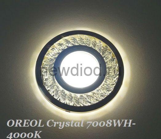 Точечный Светильник OREOL Crystal 7008WH-4000K Led 100/60mm Под Лампу MR16 Белый