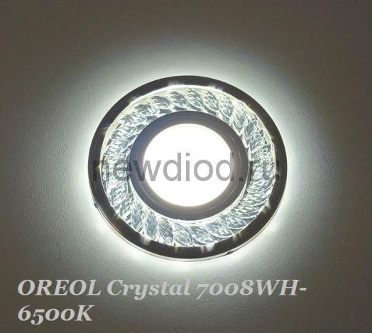 Точечный Светильник OREOL Crystal 7008WH-6500K Led 100/60mm Под Лампу MR16 Белый