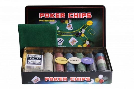 Покер 300 фишек HL с номиналом