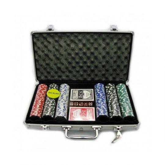 Покер 300 фишек Pc с номиналом (11,5 г.)