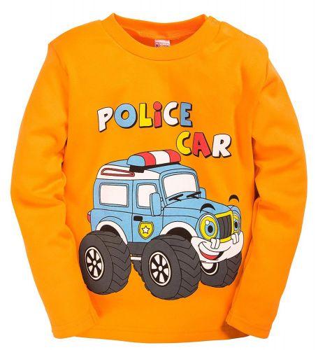 """Лонгслив для мальчика """"Police Car"""" оранжевый"""