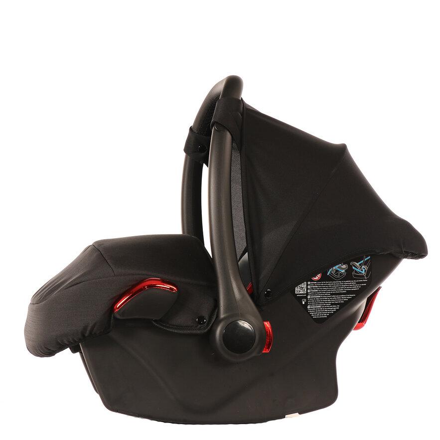 Автокресло JUNAMA (Ткань) черный/красный (AJ-I01)