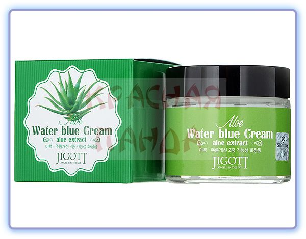 Крем для лица с экстрактом алоэ вера Jigott Aloe Water Blue Cream