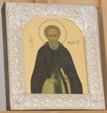 Икона Михей Радонежский преподобный (9х10,5см)