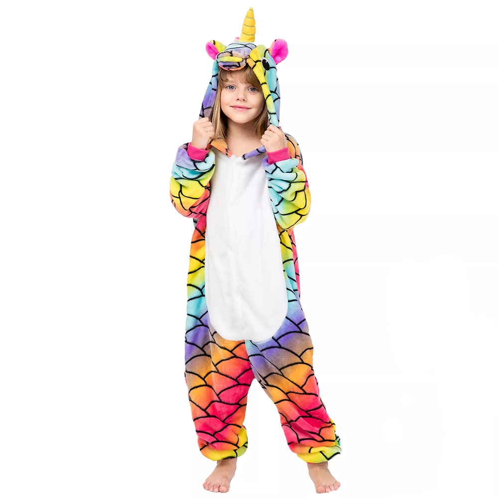 Детская Пижама Кигуруми Единорог Радужный Мраморный