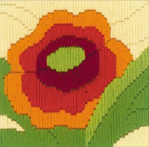 Набор для вышивания крестом Мак №1632 фирма Риолис