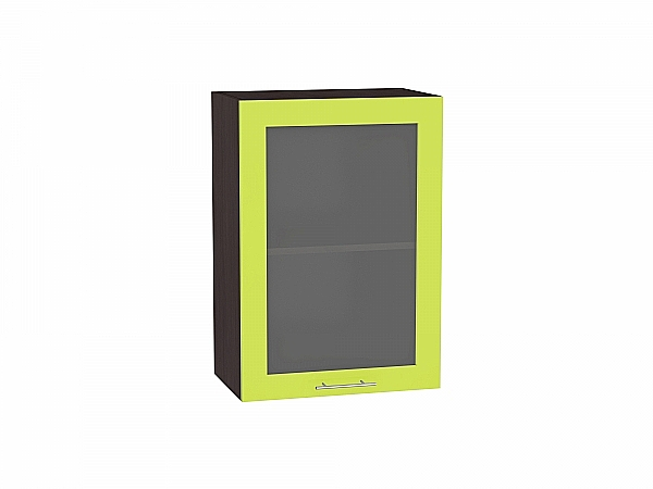 Шкаф верхний Валерия В500 со стеклом (лайм глянец)