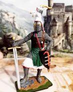 Германский рыцарь, 2-я пол. 13 века. Оловянная. Роспись. Авторская работа