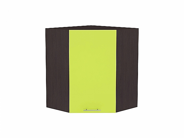 Шкаф верхний угловой Валерия ВУ599 (лайм глянец)