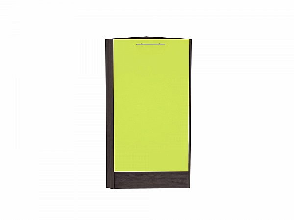 Шкаф нижний торцевой Валерия НТ300 (лайм глянец)