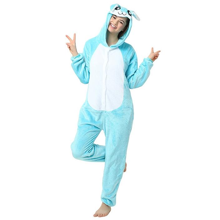Пижама Кигуруми Заяц Голубой