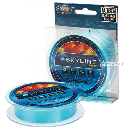 Флюорокарбоновая леска Sprut Skyline Evo Tech Pro 100 м / цвет:  Blue
