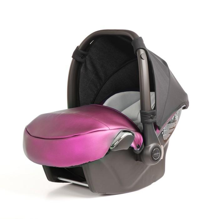 Автокресло JUNAMA FLUO (Кожа) розовый (AJ-F03)