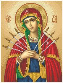 БС-В БС Солес. Богородица Семистрельная. А3 (набор 2225 рублей)