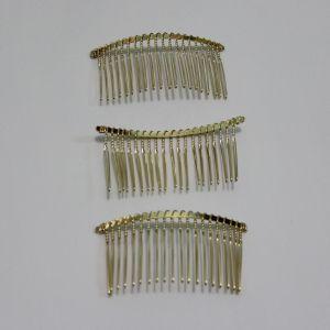 Гребень для волос, металл, размер 80*40мм, цвет: золото (1уп = 12шт)