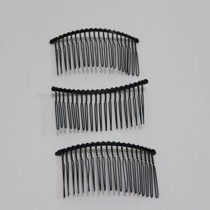 Гребень для волос, металл, размер 80*40мм, цвет: черный (1уп = 12шт)