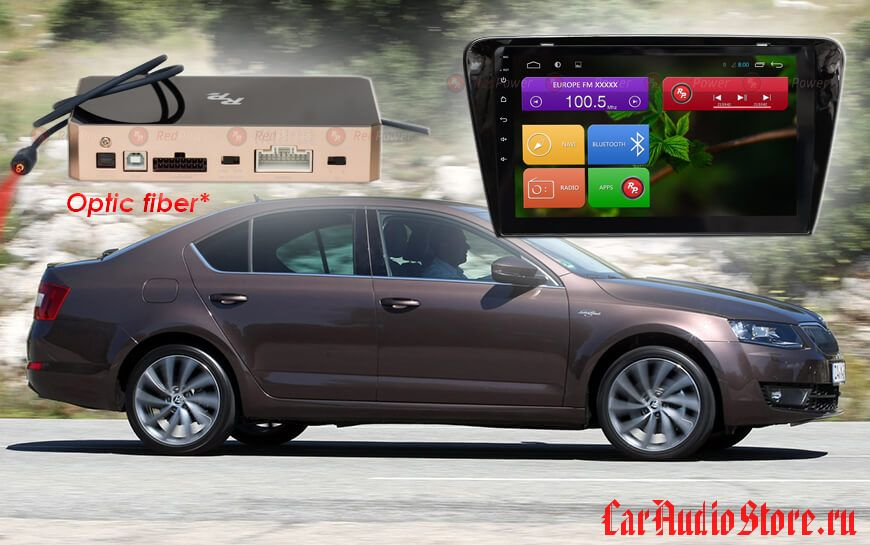 Skoda Octavia A7 RedPower 31007 R IPS DSP ANDROID 7