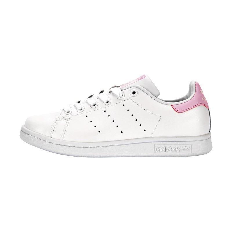 Белые Adidas Кеды Stan Smith White Pink