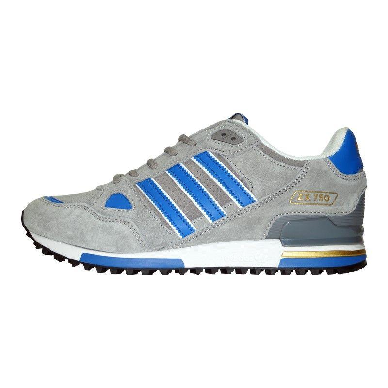 Кроссовки Adidas ZX 750 Gray Blue