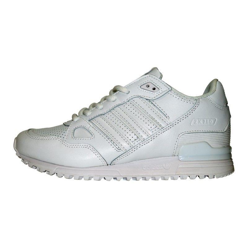 Кроссовки белые Adidas ZX 750 White Leather