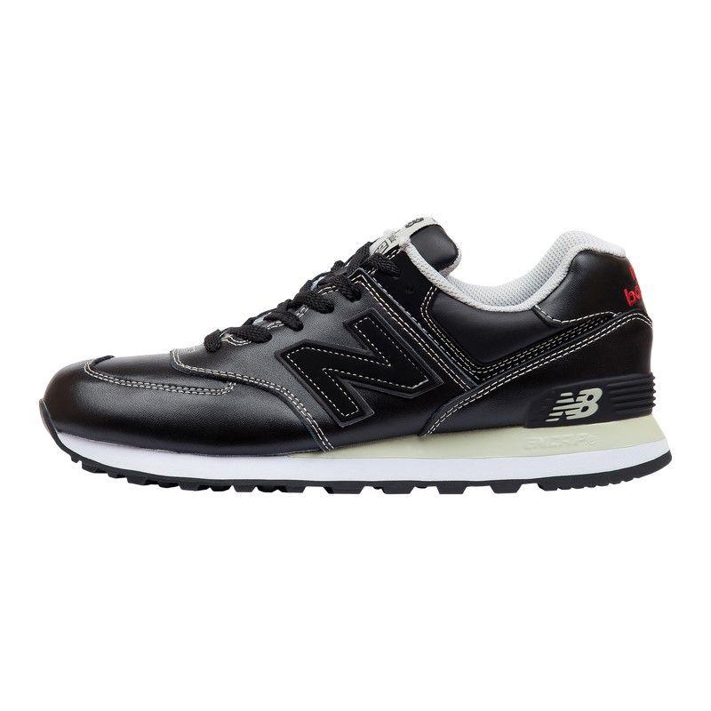Кроссовки New Balance 574 Leather Black White