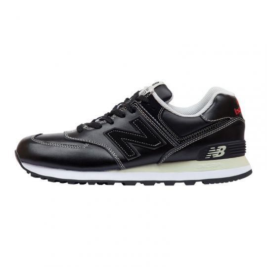 Кроссовки New Balance 574 Leather черно-белые