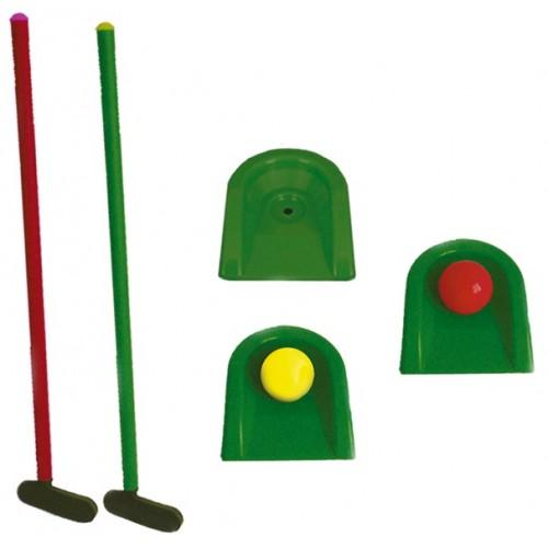 Игра детская Гольф 473 У (2 клюшки + 2 мяча + 3 лунки)