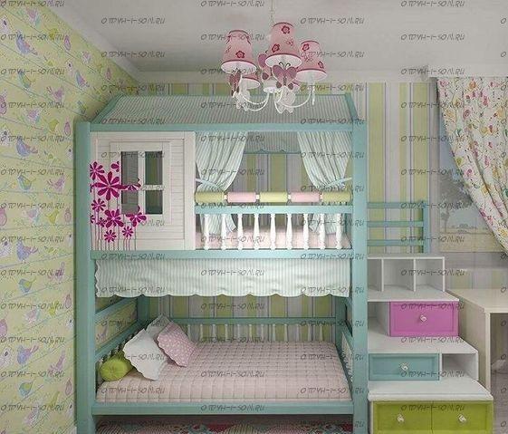 Двухъярусная кровать домик Fantasy