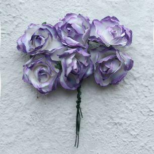 Бумажные цветы сиреневые - Кукольная миниатюра