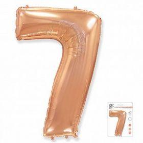 """Фигура """"7""""  (40""""/102 см) розовое золото, в упаковке"""