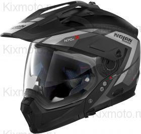 Шлем Nolan N70-2 X Grandes Alpes N-Com, Матовый чёрно-серый