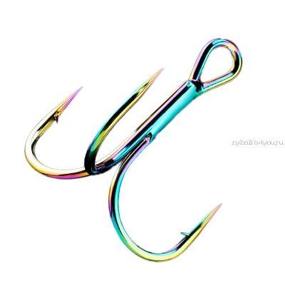 Крючки Тройные Sprut Hara ST-36 BC   #1/0 (Treble Round Bend Hook) упаковка 5шт