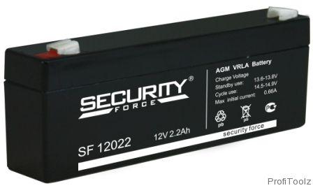 """Батарея аккумуляторная Security """"SF 12022"""" 12 Вольт 2.2 Ач"""