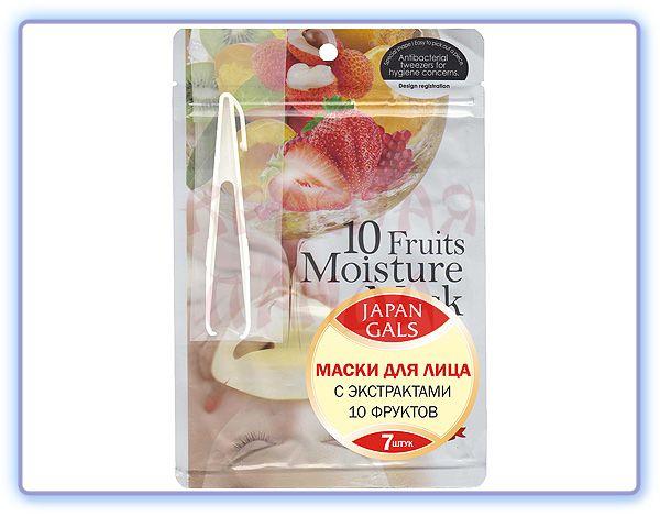 Увлажняющая маска с 10 экстрактами фруктов Japan Gals