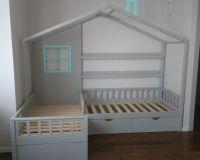 Кровать Домик угловой Baby Letto (массив бука) (для двоих детей)