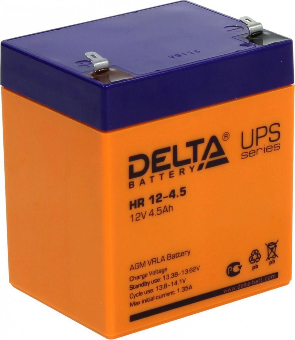 Батарея аккумуляторная Delta 12В 4.5Ач HR12-4.5