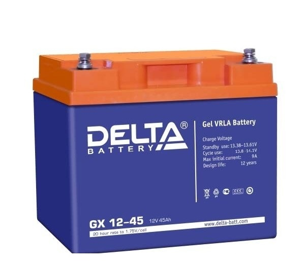 Батарея аккумуляторная Delta GX12-45 12В 45Ач