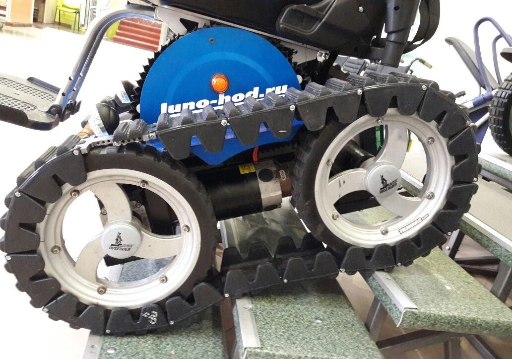 Гусеница резиновая накидная для Observer Maximus на PU колёсах из 17 траков + натяжитель
