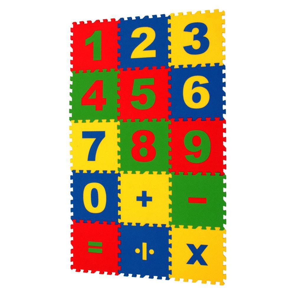 Математика мягкий пол развивающий 25х25