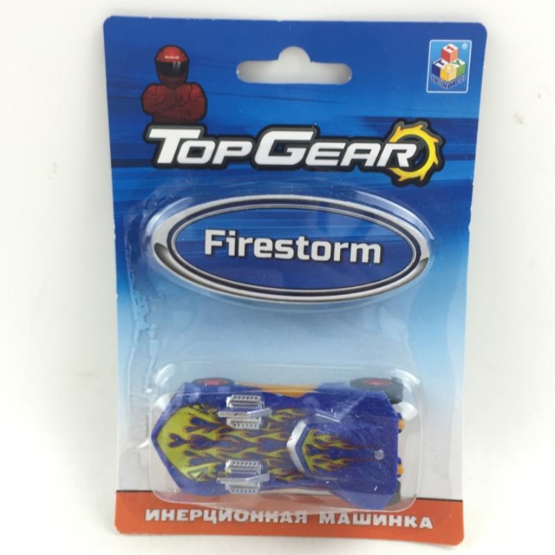 1toy Top Gear пласт. машинка Firestorm, инерц. блистер