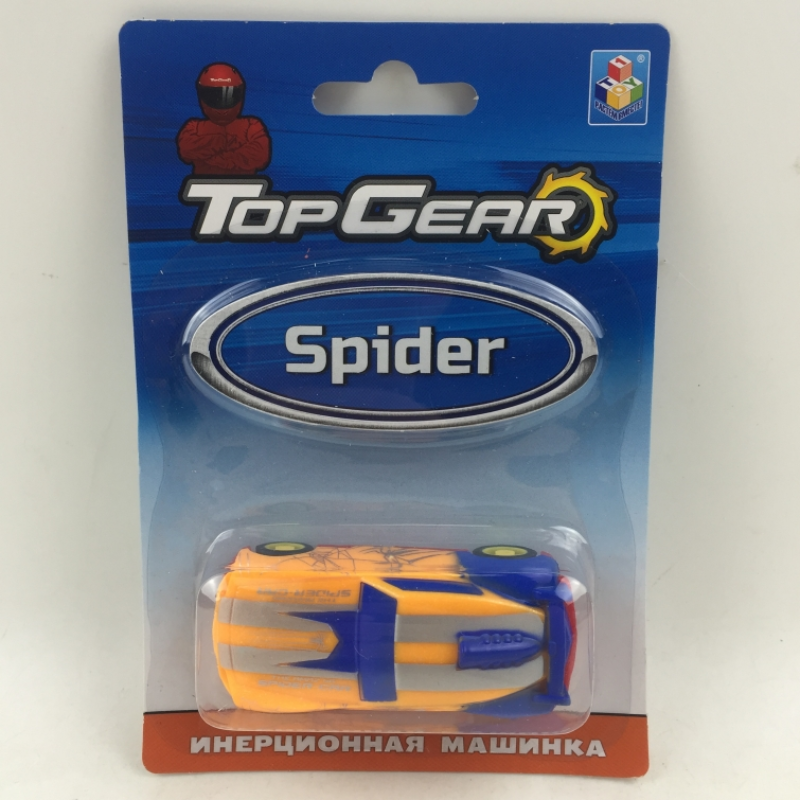 1toy Top Gear пласт. машинка Spider, инерц. блистер